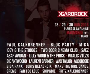 La prog entière sous peu, sur le site officiel du Festival : http://www.garorock.com/