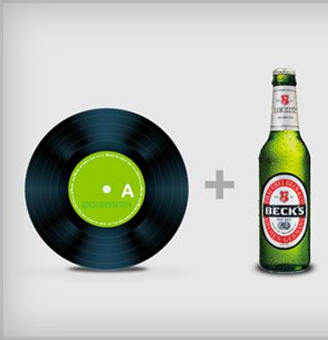 Le brasseur Beck's invente la première bouteille-vinyle de bière capable de jouer de lamusique